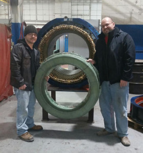Stator end support rings